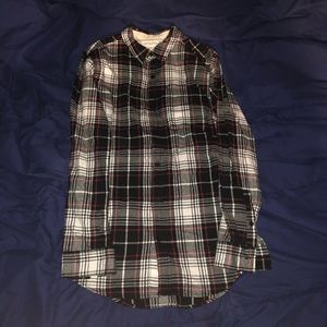 On The Byas Plaid Extended Length Flannel